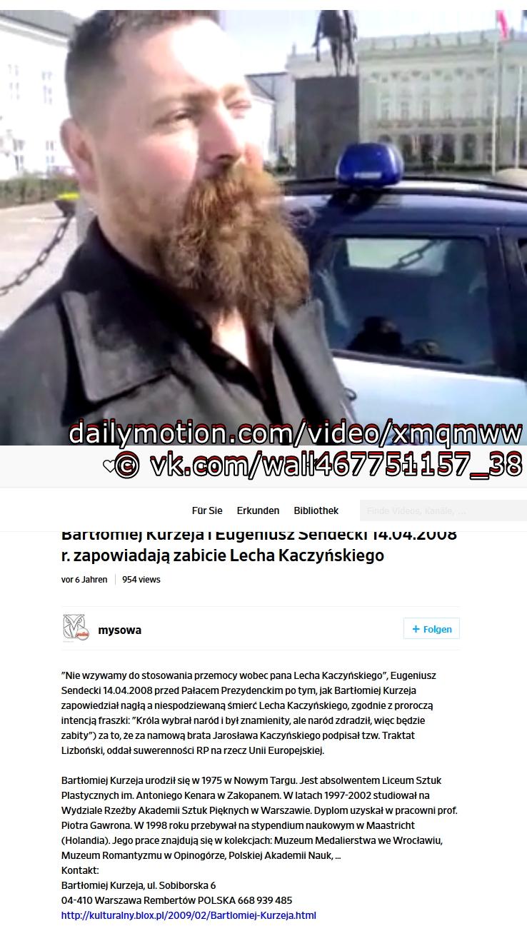 Kurzeja i Eugeniusz Sendecki 14 04 2008 zabicie Lecha Kaczynskiego -