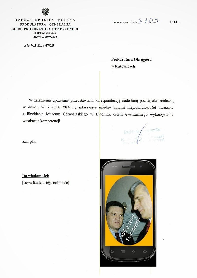 Biuro Prokuratora Generalnego 31.03.2014