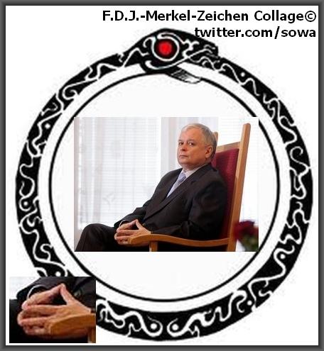FDJ_Merkel_Zeichen_Kaczynski_sowa_gloria_mysowa