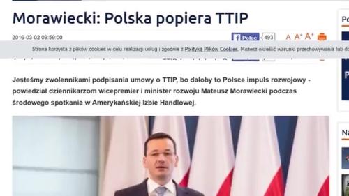 Morawiecki TTIP