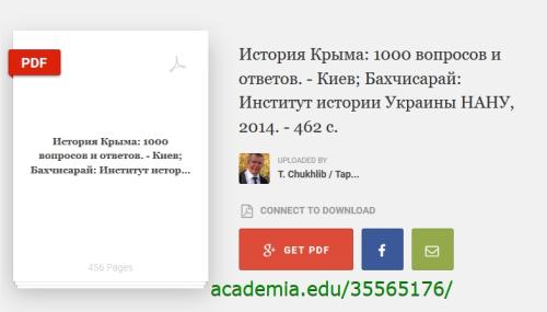 Taras Czuchlib Historia Krymu Kijow 2014