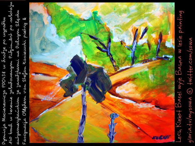 Wyje bahna w lesie klekot PDO438 sowa
