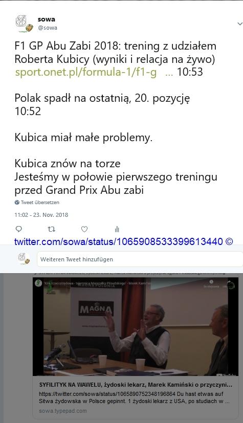 Screenshot_2018-11-23 sowa auf Twitter F1 GP Abu Zabi 2018 trening z udziałem Roberta Kubicy