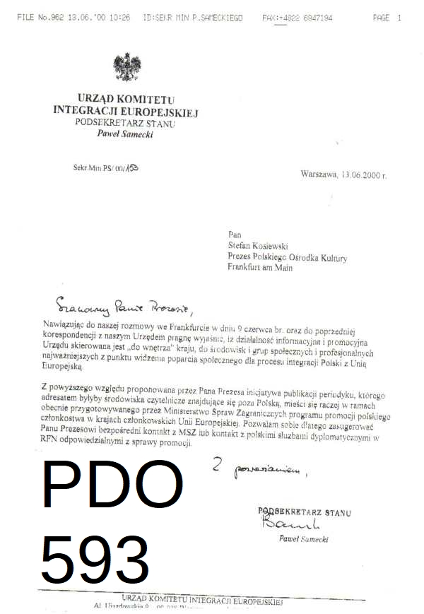 PDO593 samecki 13.06.2000