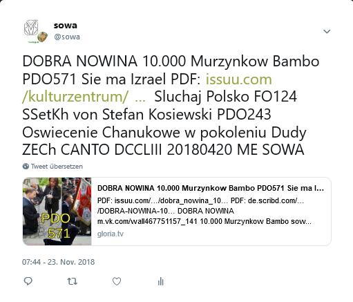 Screenshot_2018-11-23 sowa auf Twitter DOBRA NOWINA 10 000 Murzynkow Bambo PDO571 Sie ma Izrael PDF https t co IHgKMQGPzK S[...]