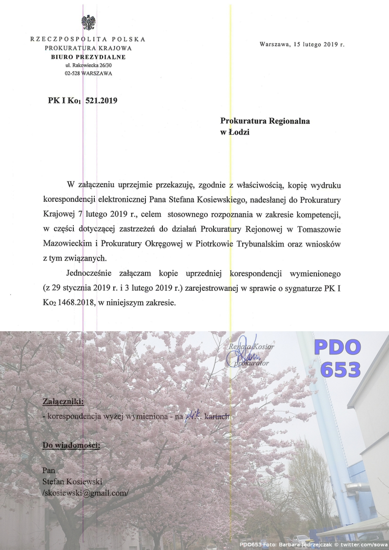 Prokuratura Regionalna  doc02755020190218070613  15.02.2019  Prokuratura Krajowa  Tomaszow Mazowiecki  Piotrkow Trybunalski  Piotr Maslowski  Stefan Kosiewski