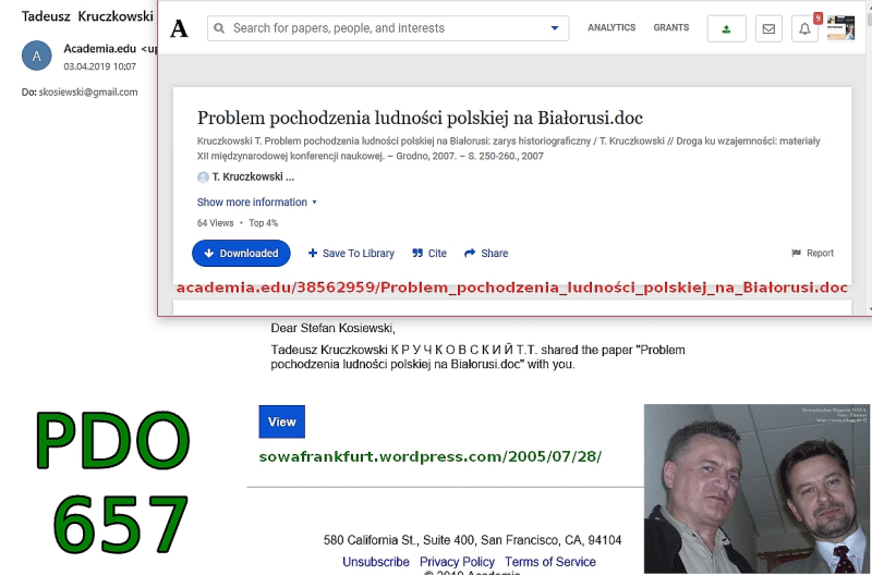Problem pochodzenia polskiej ludnosci Bialorusi PDO657 Tadeusz Kruczkowski