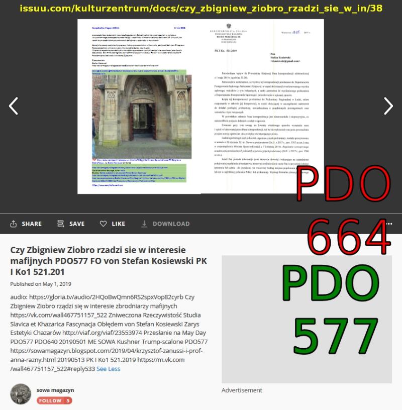 PDO664 PDO577 Screenshot_2019-05-16 Czy Zbigniew Ziobro rzadzi sie w interesie mafijnych PDO577 FO von Stefan Kosiewski PK I Ko1 521 201