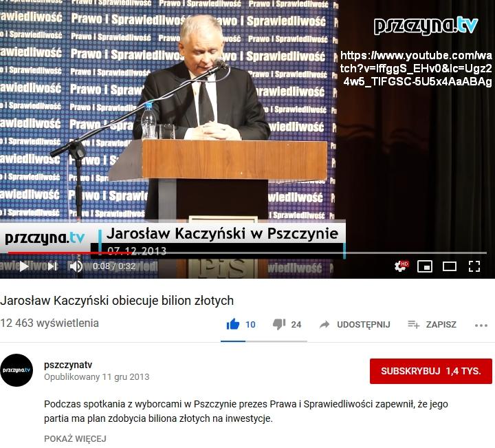 Screenshot_2019-07-23 Jarosław Kaczyński obiecuje bilion złotych - YouTube