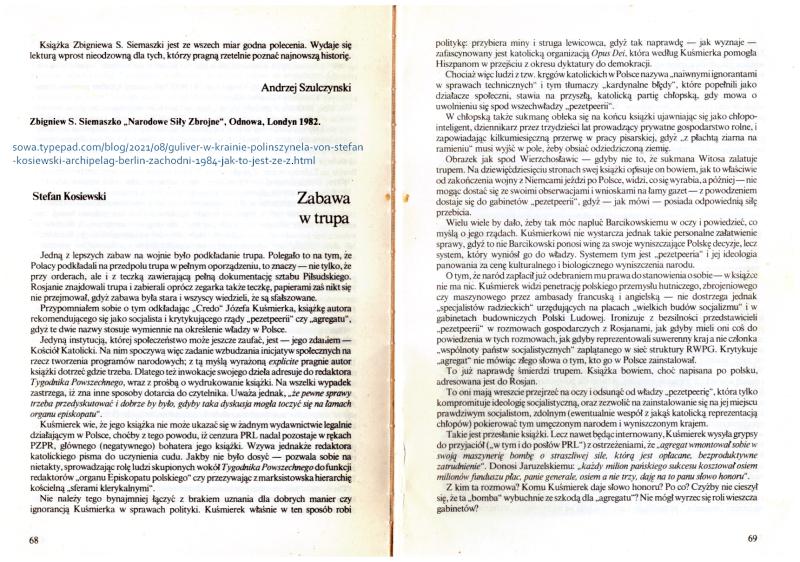 Kosiewski Zabawa w trupa Archipelag 1984 ad