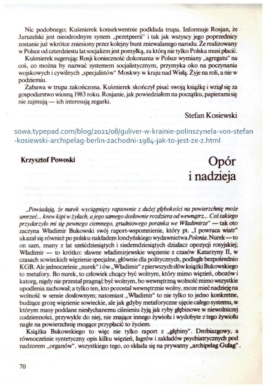 Kosiewski Zabawa w trupa 2 Archipelag 1984 ad