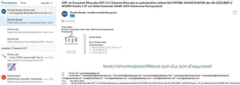 2021-08-23 Monika Nowak BHiuro Obsługi Posłów Kancelaria Sejmu 2